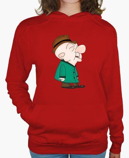 T-shirt Donna, felpa con cappuccio, rossa