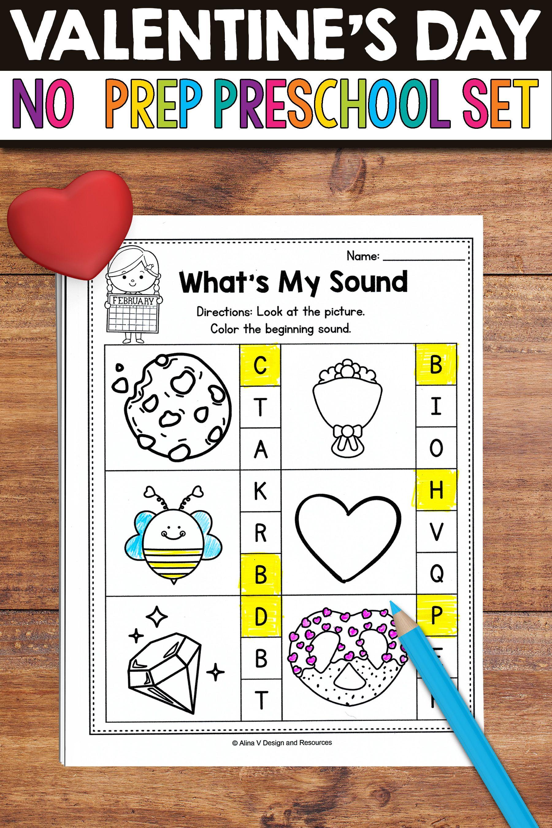 Valentine S Day Activities For Preschool Valentine S Day Math