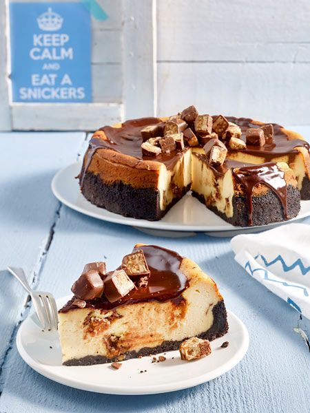 Käsekuchen mit Snickers  Rezept   LECKER #simplecheesecakerecipe