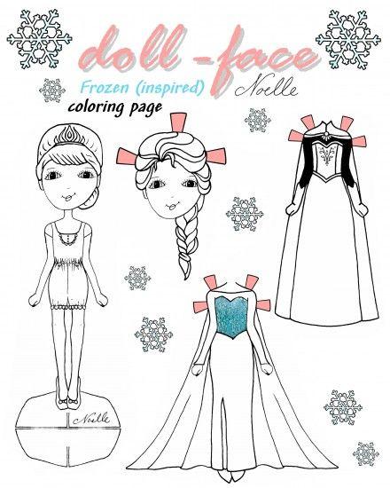 Dibujos1  Paper Dolls  Pinterest  Frozen real Frozen y Colorear