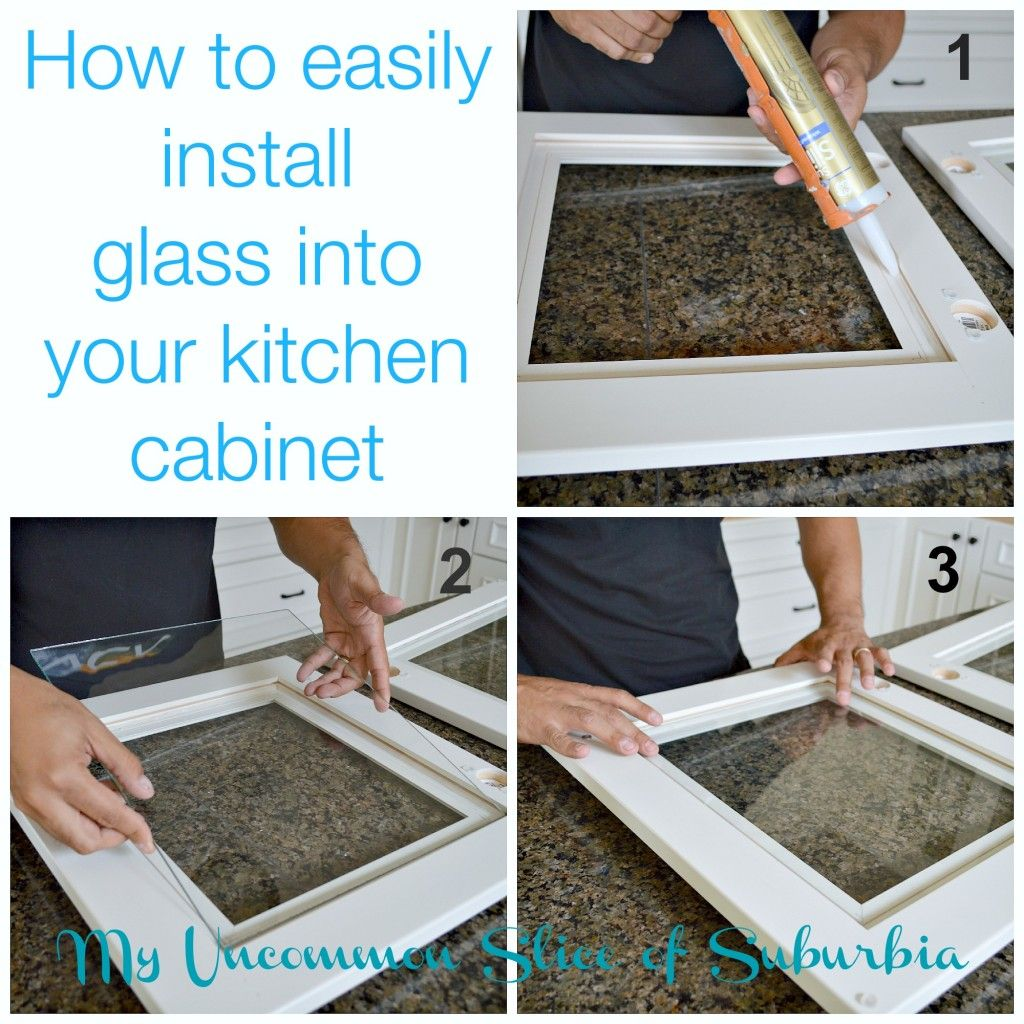 How To Add Glass Inserts Into Your Kitchen Cabinets Diy Door