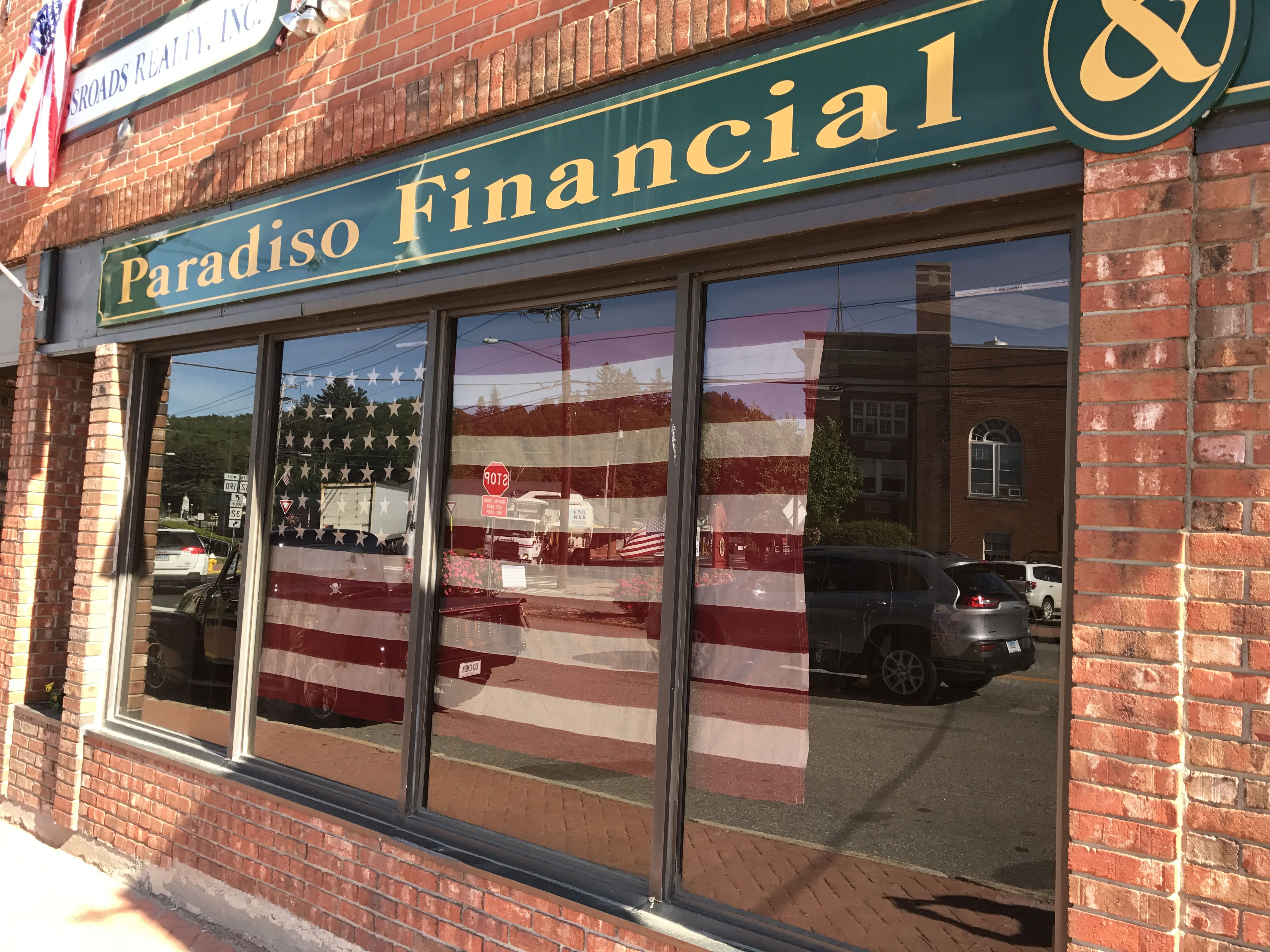 Every FlagDay we hang this huge flag in our window!
