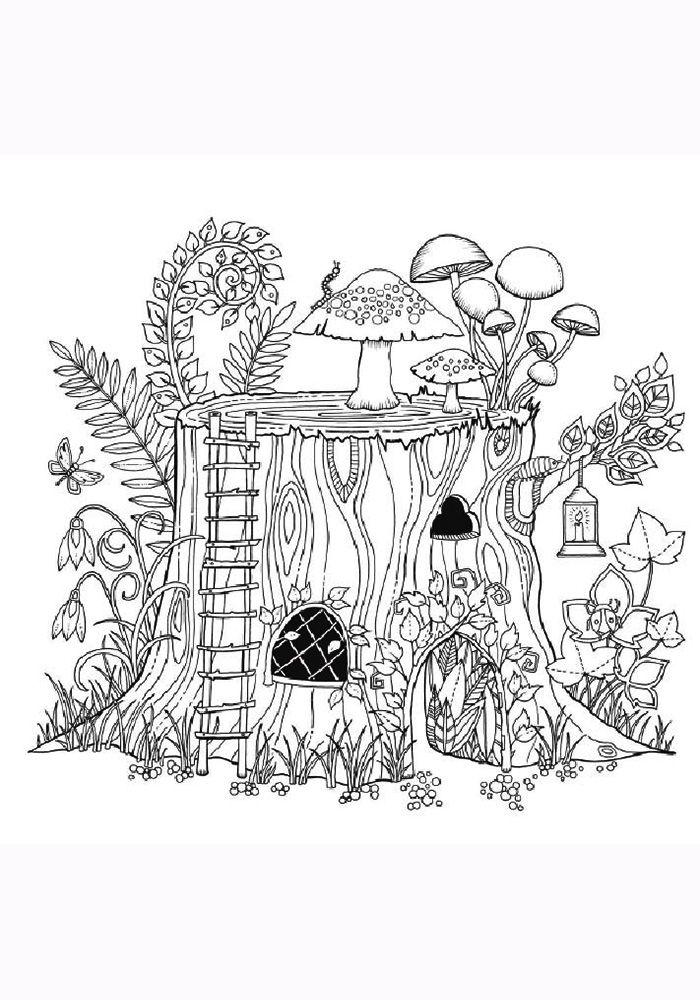 сказочный лес рисунки карандашом удивительно