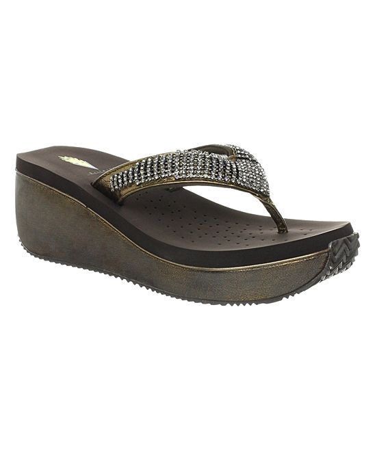 5d6cc0bc597824 Bronze Fairy Dust Leather Sandal ... VOLATILE .  29.99 Compare at  54.00  .(PRICE AS OF 23JAN2017)   size chart 6   7. 8 . 9 . 10 .