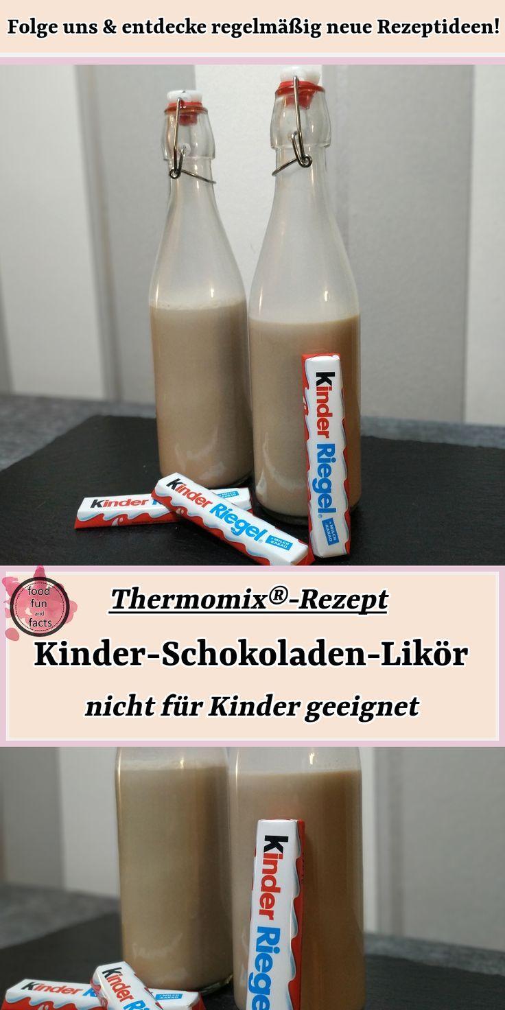 Kinder-Schokoladen-Likör – nur für Erwachsene | Thermomix®-Rezept #thermomixrezepte