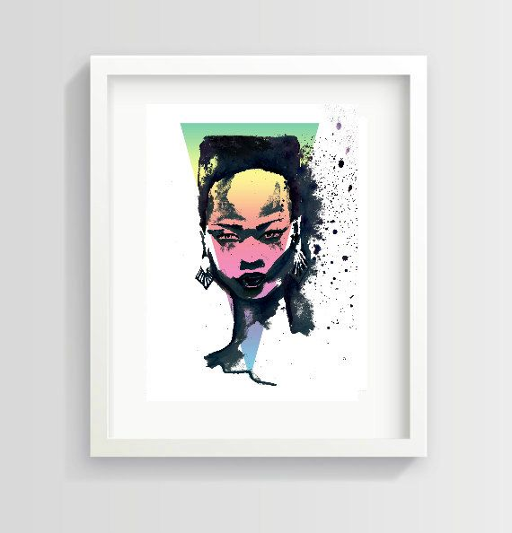 A personal favourite from my Etsy shop https://www.etsy.com/uk/listing/232577307/kate-menson-grace-jones-inspired