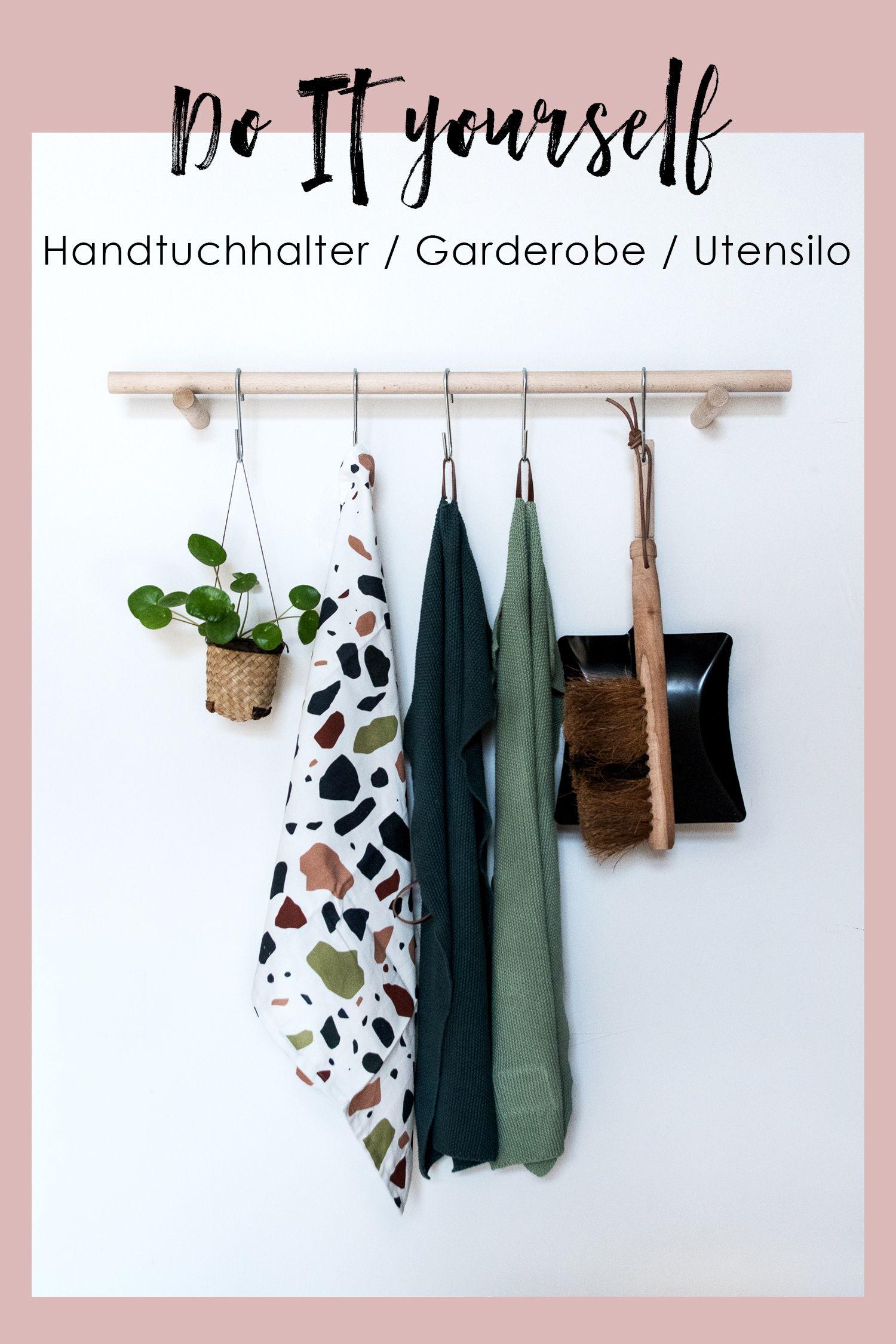 Schwebende Küchengarderobe DIY Geschirrtuchhalter aus Holz craftifair
