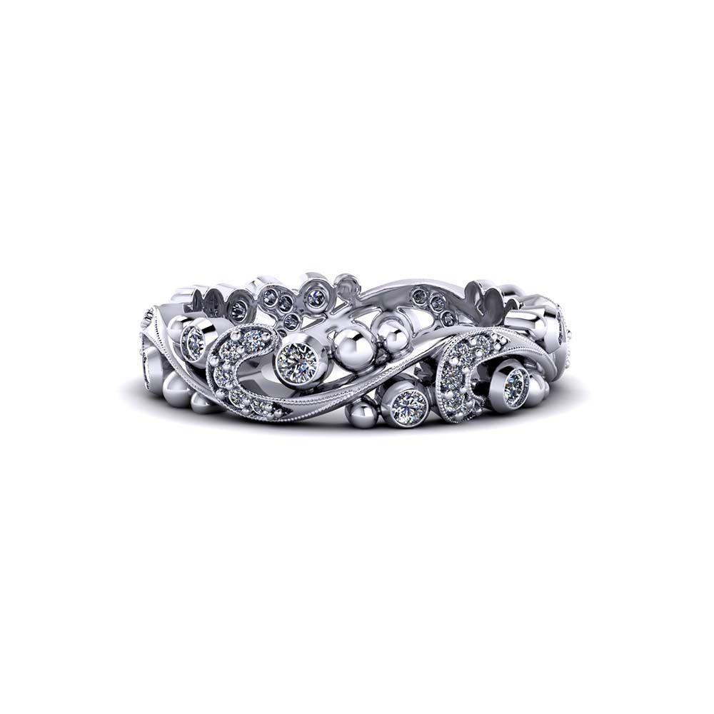 Paisley Diamond Band Diamond Bands Fashion Rings Jewelry Design