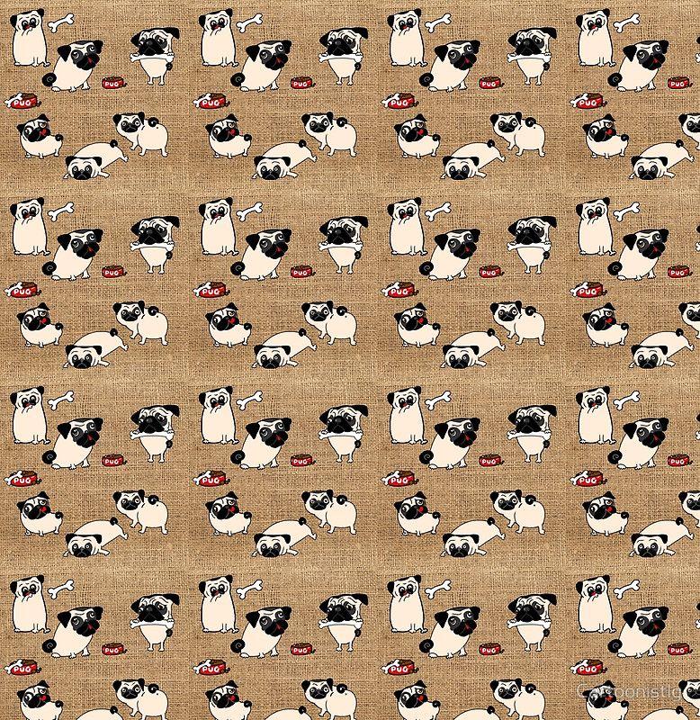 Cute Pug Fashion art by LeahG