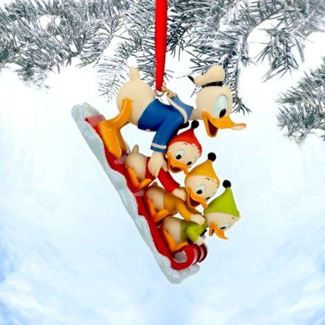 Donald Duck, Huey, Dewey and Louie Sketchbook Ornament - Stand Back! Donald Duck Is Taking His Nephews - Huey, Dewey & Louie