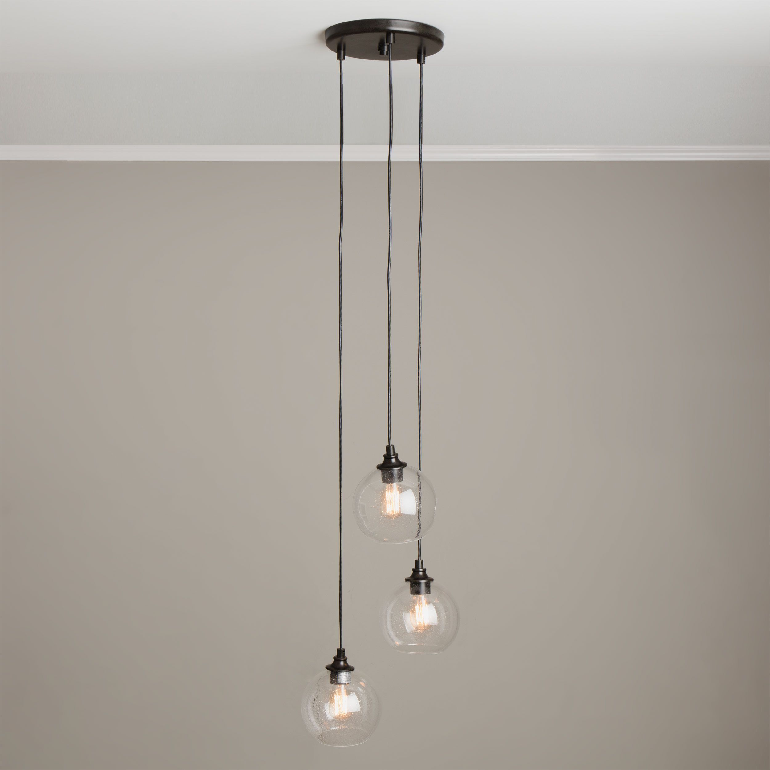 Uptownlight clear globe cluster pendant overstock shopping