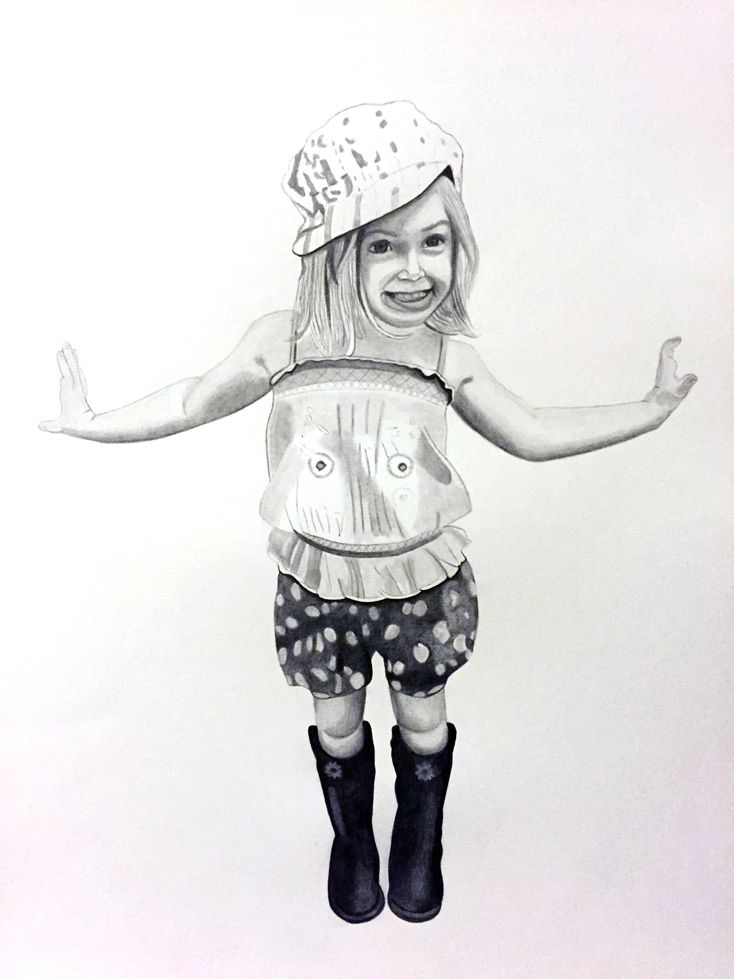 "Pencil drawing - ""Layla"""