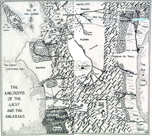 Belgariad/Mallorean map, I love this style for novel maps | You