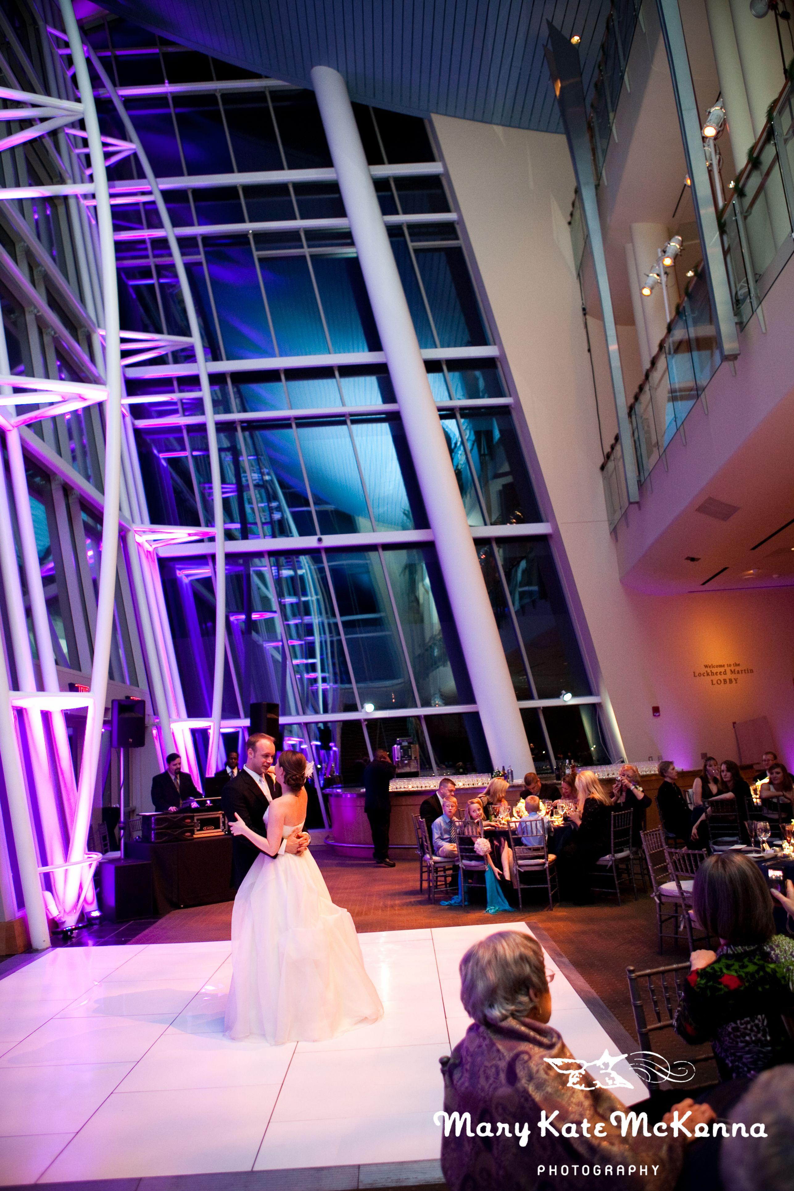 Bride and Groom share their first dance as newlyweds in