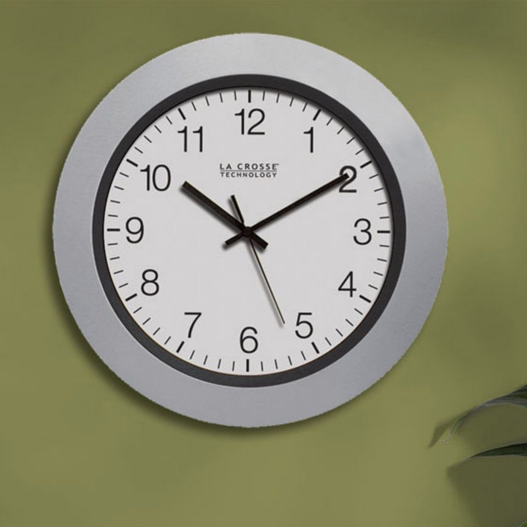 La Crosse Technology Silver Atomic Analog 10 Inch Wall Clock WT