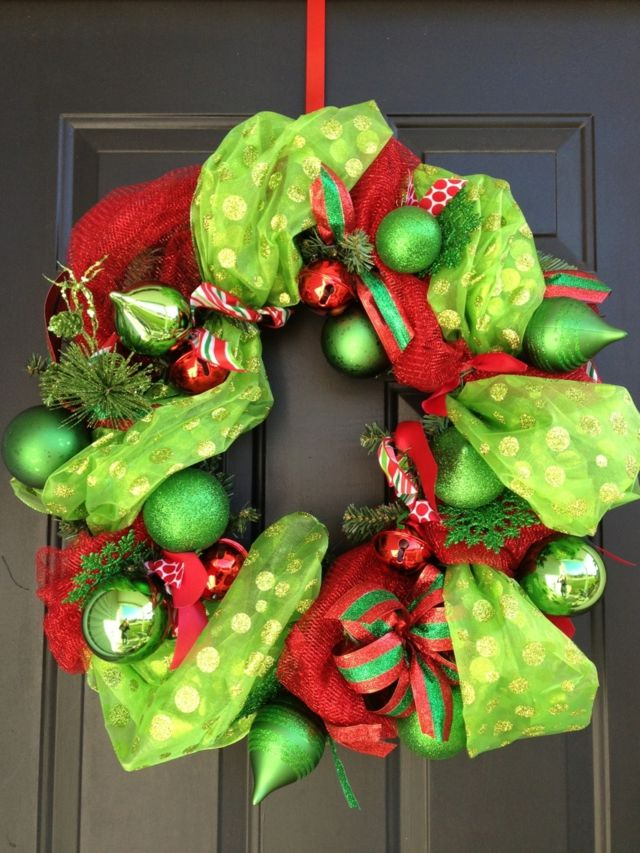13 décoration de Noël pour la porte du0027entrée Wreaths and Decoration - idee deco porte d entree