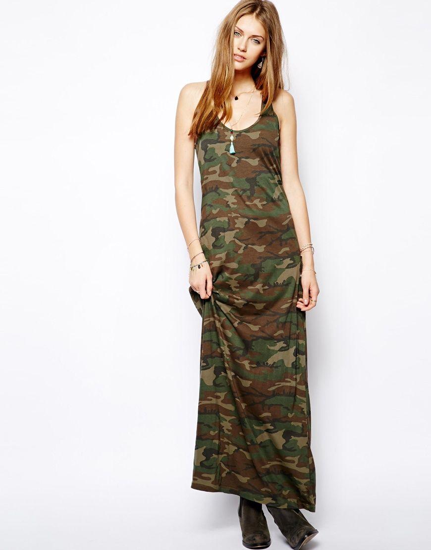 acfc51416a Denim   Supply By Ralph Lauren CamoufLAGE Maxi Dress