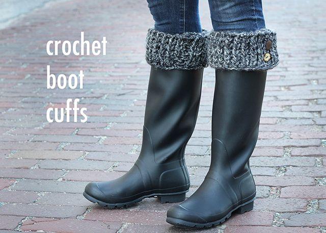 Diy Crocheted Boot Cuffs Crochet Pinterest Crochet Boot Cuffs
