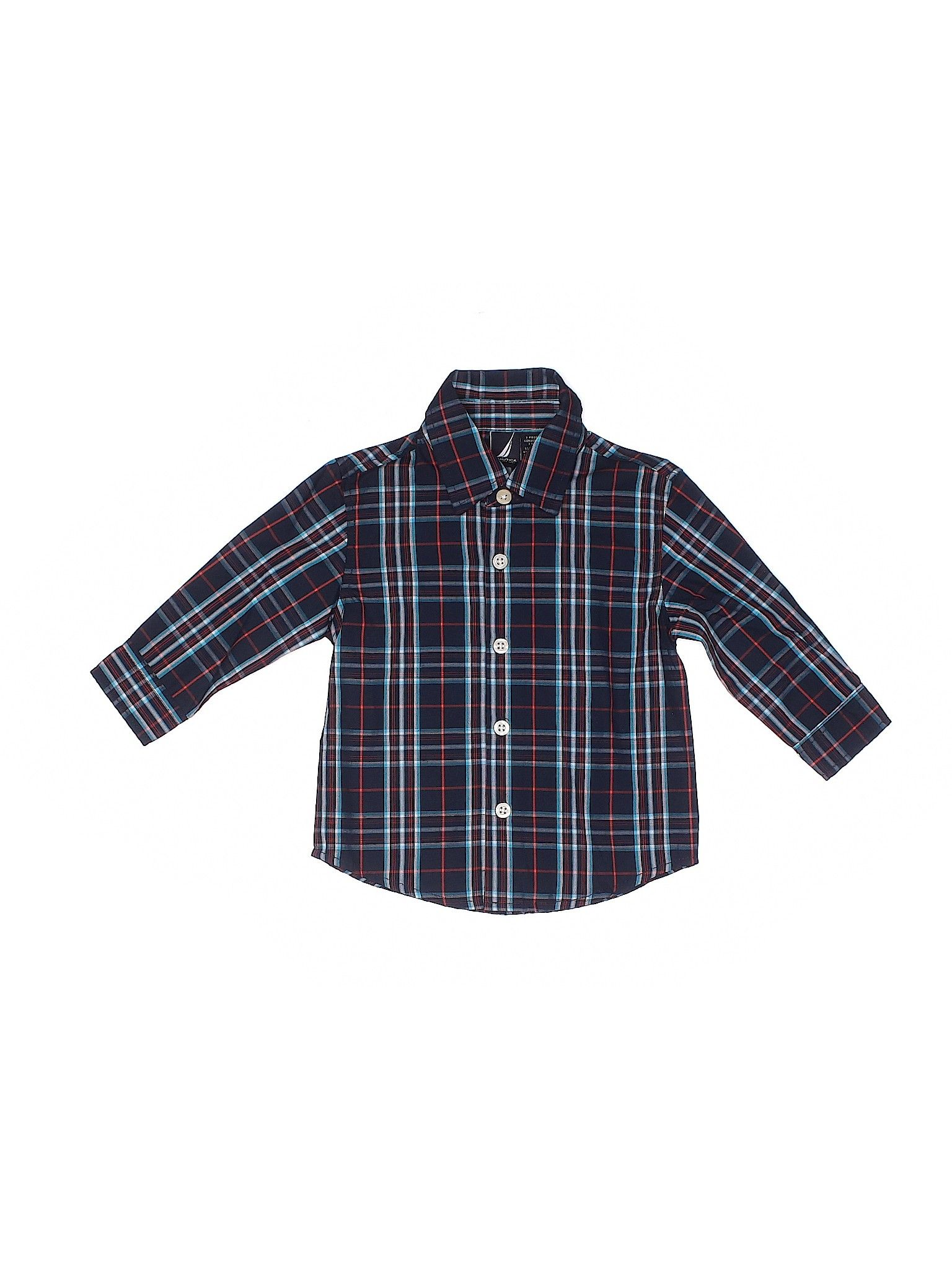 Boys Long Sleeve Cotton Plaid Button Down Shirts Tops