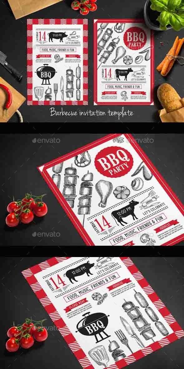 Bbq Party Invitation Invitations Cards u0026