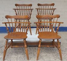 Ethan Allen Comb Back Side Chair Heirloom Nutmeg Maple 10 ...