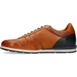Photo of Cognacfarbene Leder-Sneaker (40,41,42,43,44,45,46) Van Lier