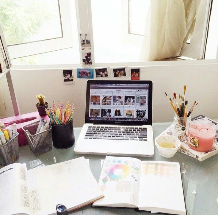 Missing my study table at home when I\'m in hall ~ | Desk space ...