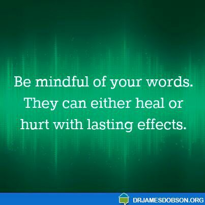 Mind your words...