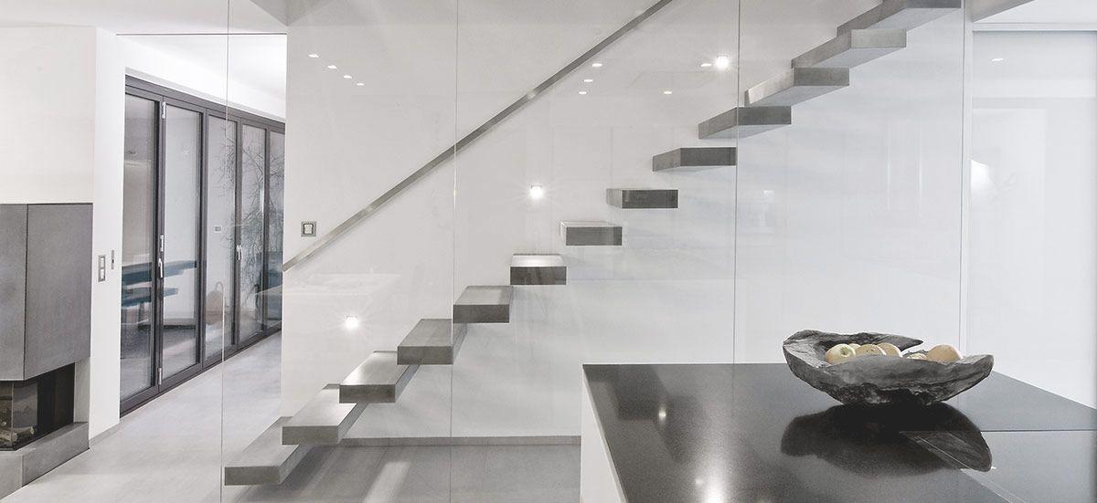 RoomStone® - Exklusives aus Sichtbeton, Freitragende - exklusives treppen design