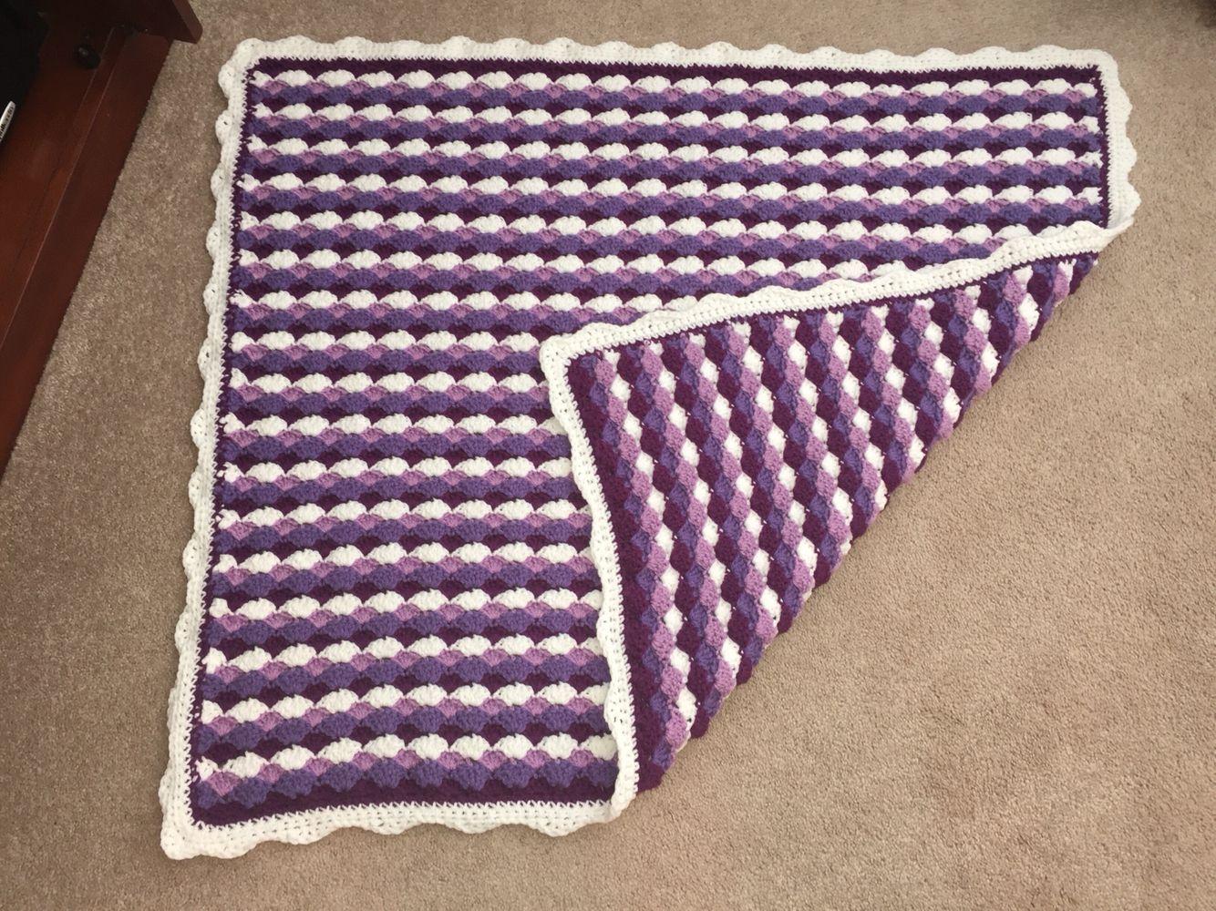 Baby blanket-shell stitch