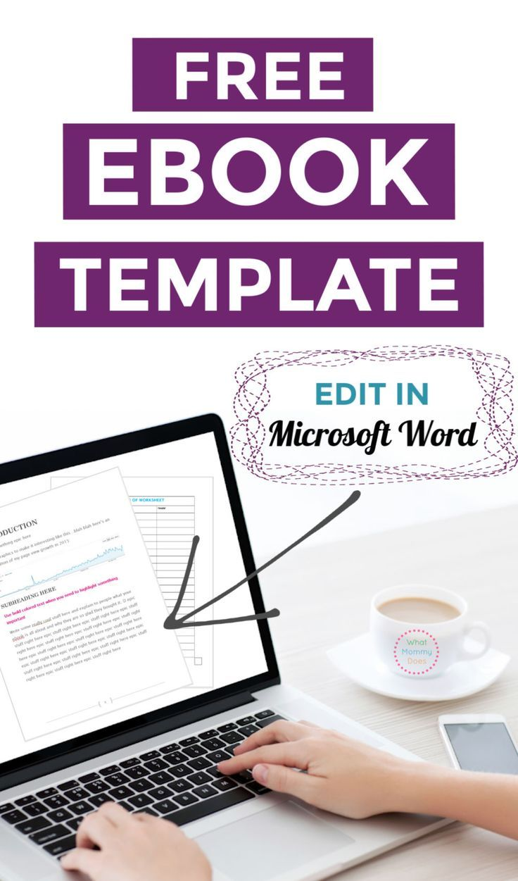 Free ebook template – preformatted word document | book writing.