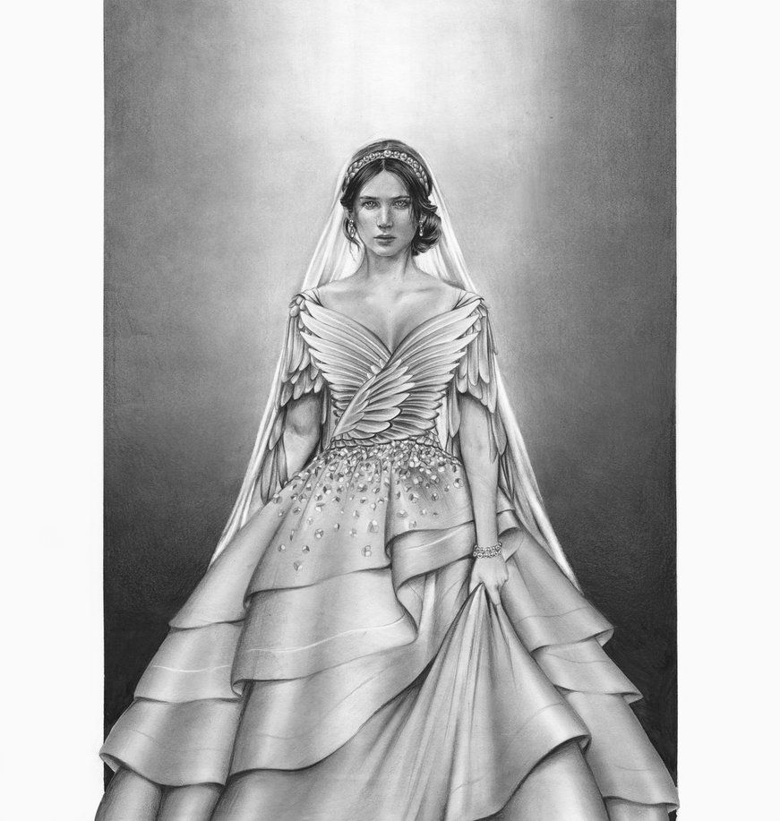The hunger games catching fire katniss wedding dress designer - Katniss Wedding Dress By On Deviantart Jennifer Lawrence As Katniss Everdeen In The Hunger Games