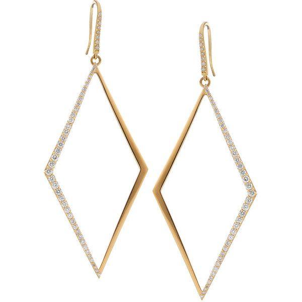2 Diamond Shape Hoop Earrings 6 610 Liked On