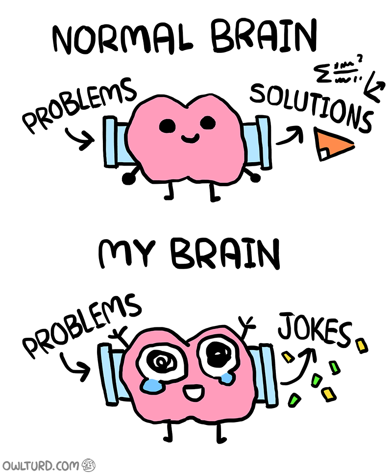 Normal Brain vs. My Brain 2 image Funny quotes, Funny