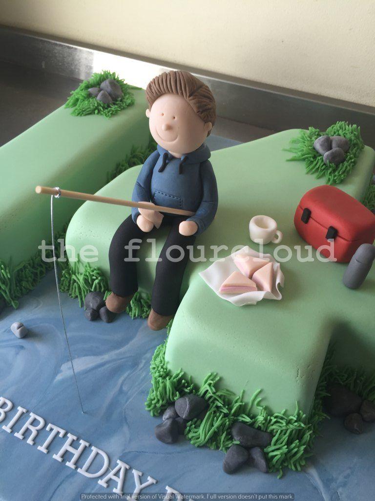 Fishing Themed Birthday Cake Sugar Craft And Tutorials