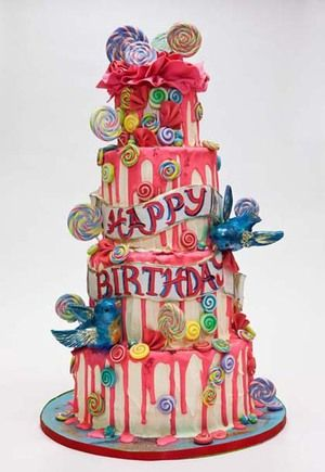Astonishing Funky Birthday Cake In Chocolate Fancy Birthday Cakes Fancy Personalised Birthday Cards Arneslily Jamesorg