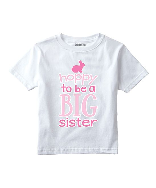 White 'Hoppy to Be a Big Sister' Tee - Toddler & Girls