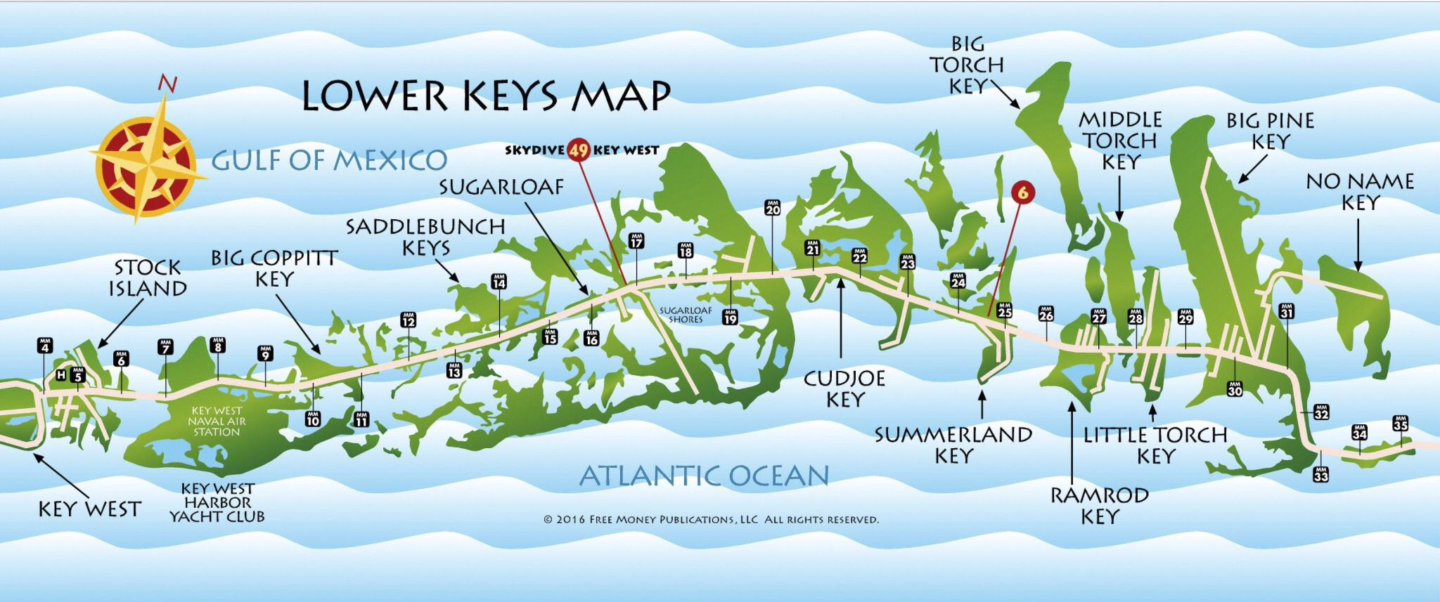 Map Of Lower Florida Lower Keys Map | Map of florida, Map, Summerland