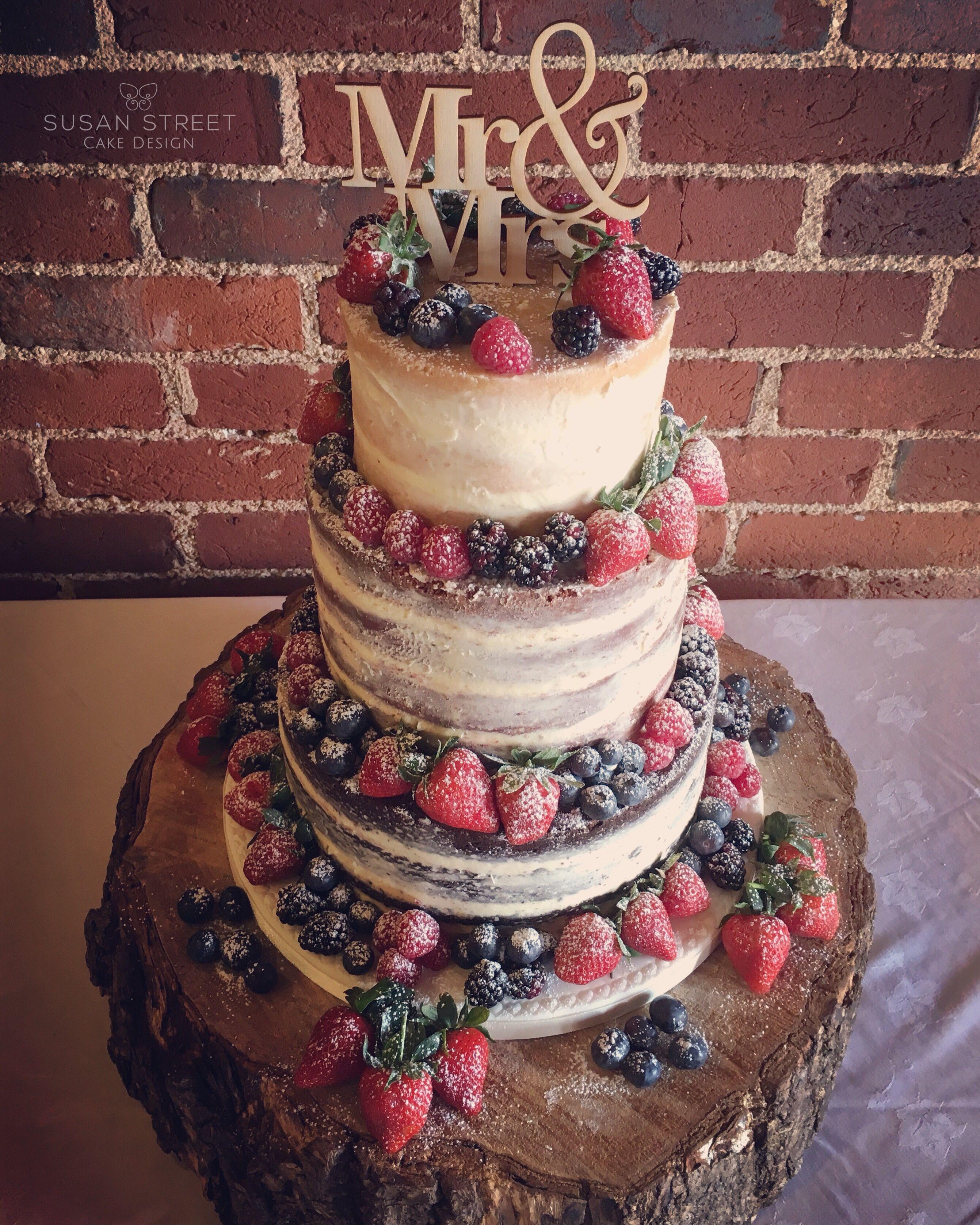 Naked Wedding Cake Layers Of Chocolate Fudge Red Velvet