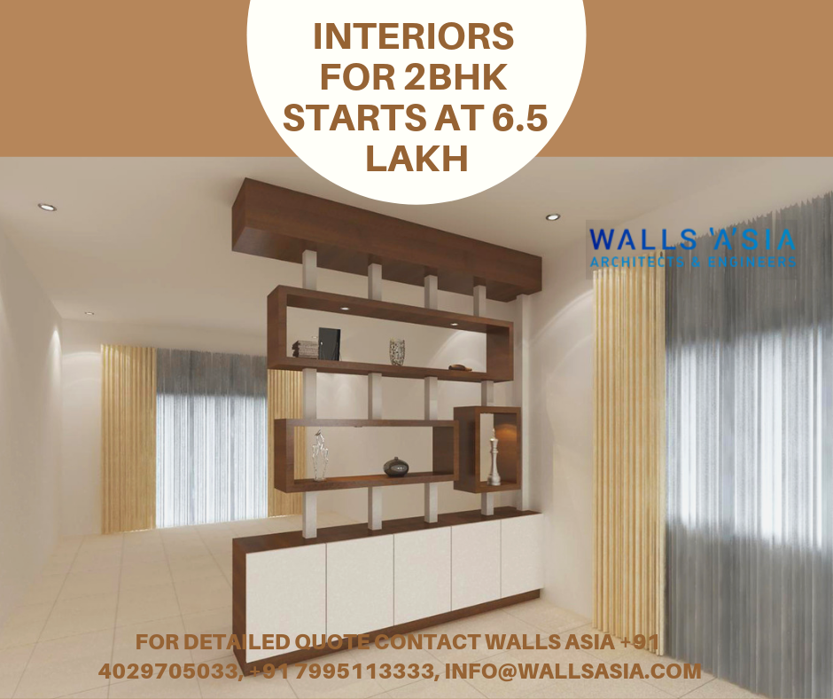 Interior Designs For 2bhk In Hyderabad Begins From 6 5 Lakh