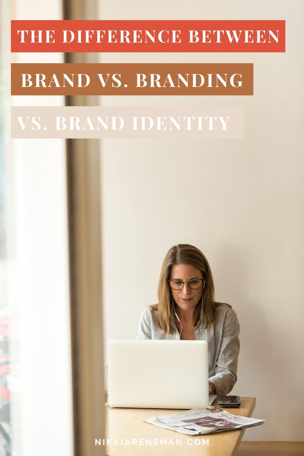 Us woman entrepeneur's need to know the difference in order to serve our ideal clients better! | Nikki Arensman, Brand Designer and Strategist #brandstrategy #businessideas #creativeentrepreneur