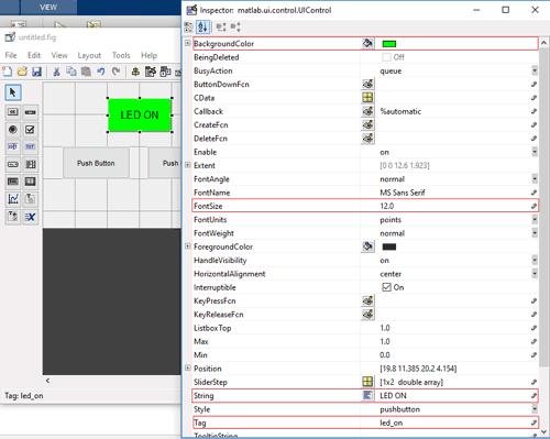 Designing GUI for Sending data from MATLAB to Arduino via