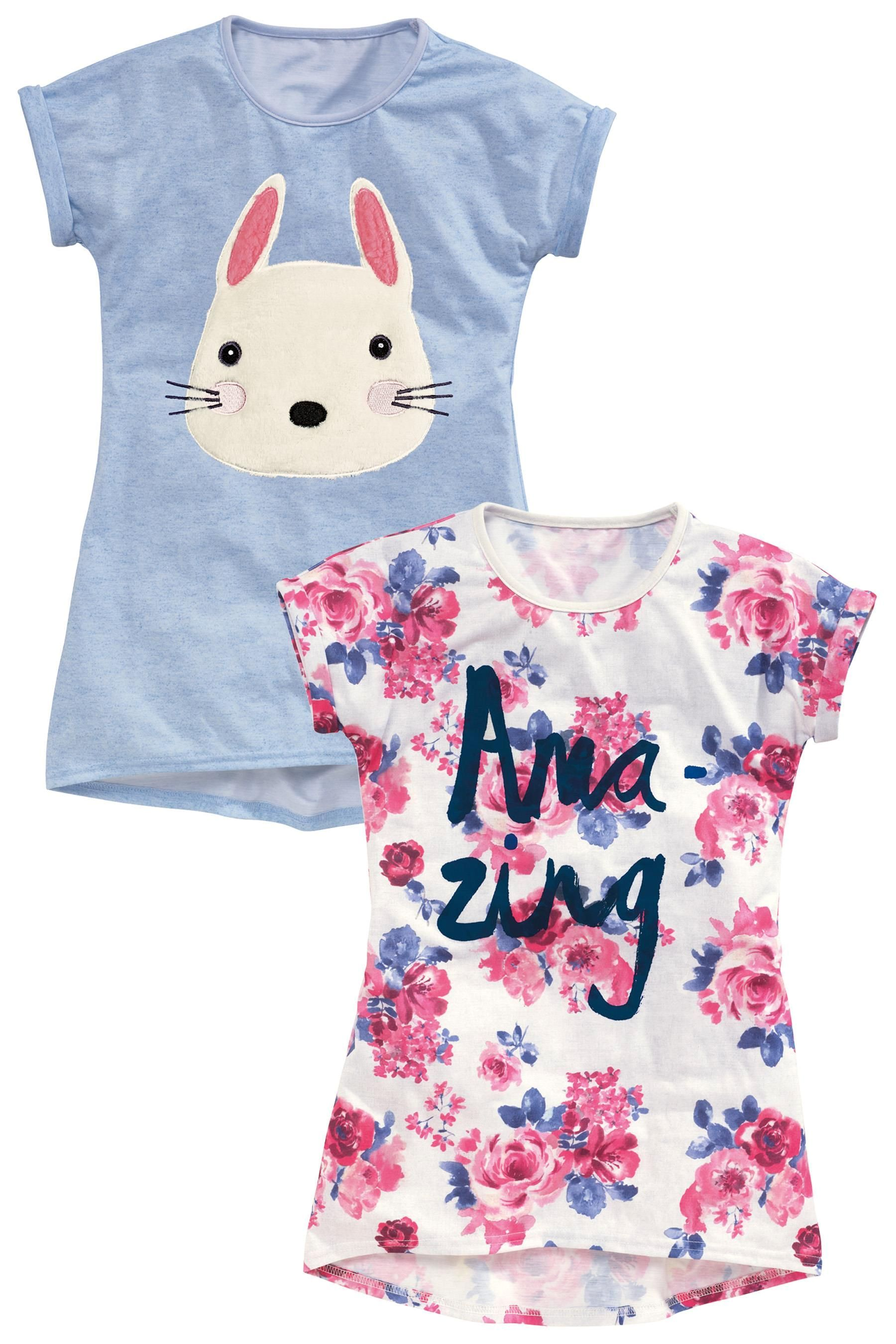 a5b3b273dde Buy Two Pack T-Shirt Nighties (3-16yrs) from the Next UK online shop ...