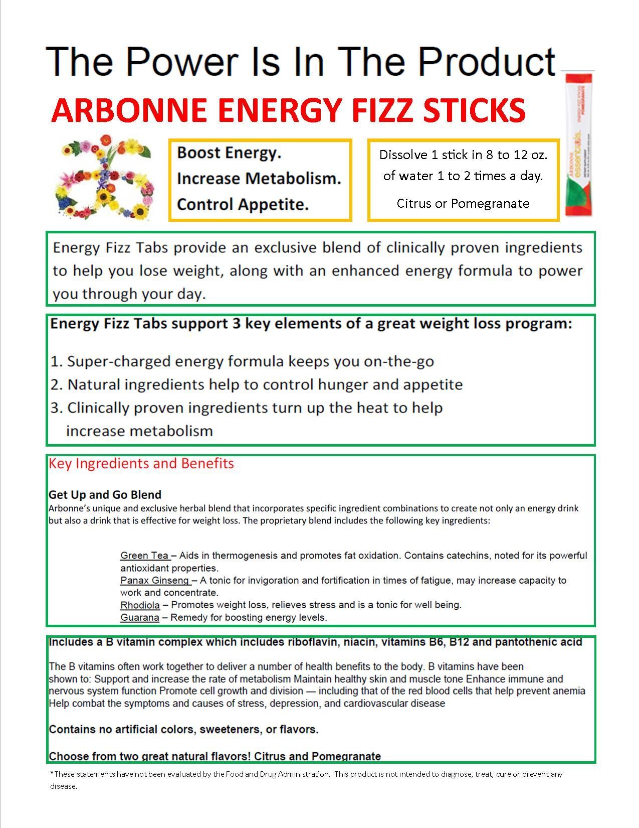 The Power Of Arbonne Energy Fizz Stick Boost Metabolism