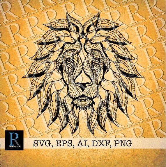 Download Zentangle Lion SVG, Mandala Lion SVG | Lion mandala ...