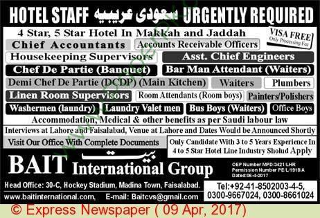 Chief Accountants Housekeeping Supervisor Jobs In Saudi Arabia