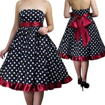 90cc7d34505 Plus Size Retro Polka Dot Dress