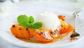Gegrilde Perzik Met Frozen Yoghurt recept | Smulweb.nl