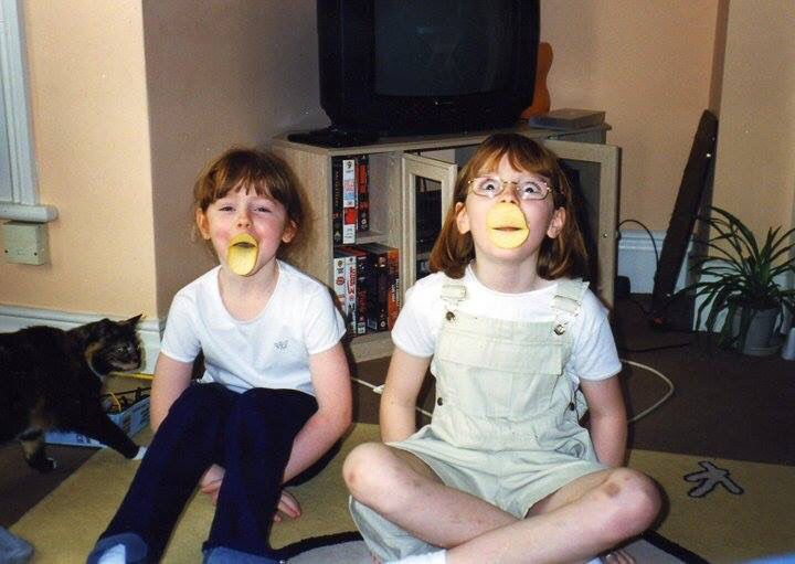 Throw back to the old days. #pringles #acceptableduckface