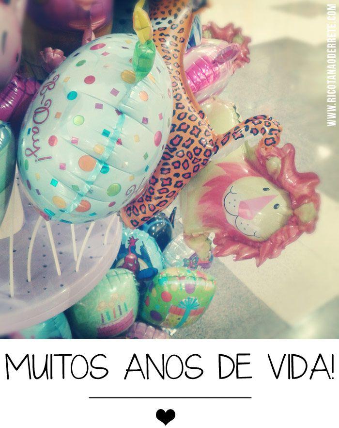 Baloons de aniversário   (by Ricota Não Derrete)